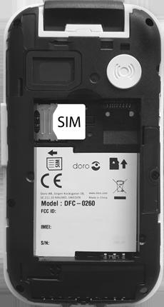 Doro 6620 - Premiers pas - Insérer la carte SIM - Étape 4