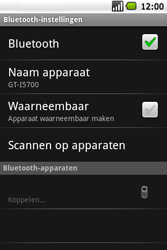 Samsung Galaxy Spica (GT-i5700) - Bluetooth - Headset, carkit verbinding - Stap 9
