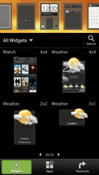 HTC One S - Getting started - Installing widgets and applications on your start screen - Step 6