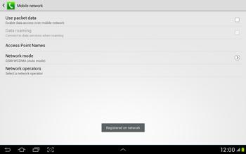 Samsung Galaxy Tab 2 10.1 - Network - Manual network selection - Step 10