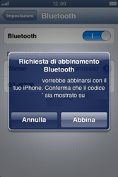 Apple iPhone 3GS - Bluetooth - collegamento dei dispositivi - Fase 8