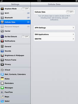 Apple iPad mini - Internet and data roaming - Manual configuration - Step 4