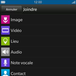 BlackBerry Q10 - Contact, Appels, SMS/MMS - Envoyer un MMS - Étape 10