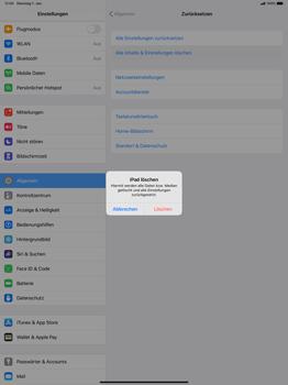 Apple iPad Pro 12.9 (1st gen) - ipados 13 - Gerät - Zurücksetzen auf die Werkseinstellungen - Schritt 6