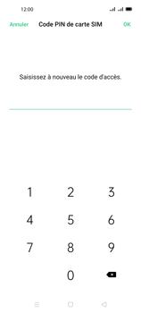 Oppo A72 - Sécuriser votre mobile - Personnaliser le code PIN de votre carte SIM - Étape 13