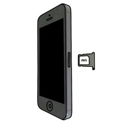 Apple iPhone 5 - SIM-Karte - Einlegen - 5 / 9