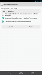 Huawei Ascend Mate - E-Mail - Konto einrichten - Schritt 18