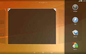 Sony Xperia Tablet Z2 LTE - Operazioni iniziali - Installazione di widget e applicazioni nella schermata iniziale - Fase 4