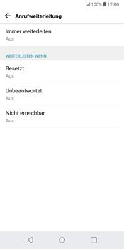 LG G6 - Android Oreo - Anrufe - Rufumleitungen setzen und löschen - Schritt 6