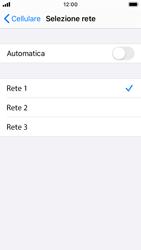 Apple iPhone SE - iOS 13 - Rete - Selezione manuale della rete - Fase 7