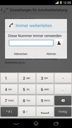 Sony Xperia M2 - Anrufe - Rufumleitungen setzen und löschen - Schritt 7