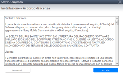 Sony Xperia Tablet Z LTE - Software - Installazione del software di sincronizzazione PC - Fase 5