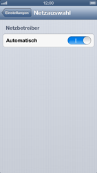 Apple iPhone 5 - Netzwerk - Manuelle Netzwerkwahl - Schritt 4