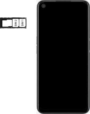 Oppo A72 - Premiers pas - Insérer la carte SIM - Étape 5