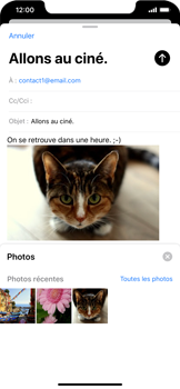 Apple iPhone 11 - E-mail - envoyer un e-mail - Étape 14