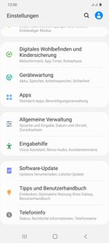 Samsung Galaxy S20 Plus 5G - Gerät - Zurücksetzen auf die Werkseinstellungen - Schritt 4