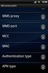 Sony Xperia Mini Pro - Internet - Manual configuration - Step 9