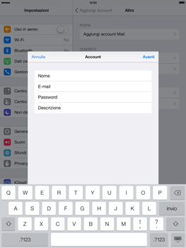 Apple iPad Air - E-mail - configurazione manuale - Fase 13