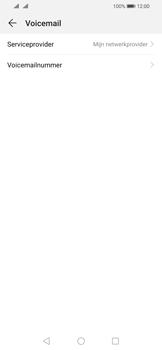 Huawei P Smart (2019) - Voicemail - handmatig instellen - Stap 8