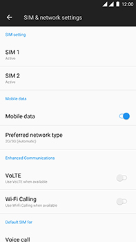 OnePlus 3 - Android Oreo - Network - Enable 4G/LTE - Step 5