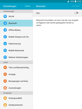 Samsung T555 Galaxy Tab A 9.7 - Bluetooth - Geräte koppeln - Schritt 7