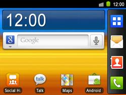 Samsung B5510 Galaxy TXT - Messagerie vocale - configuration manuelle - Étape 1