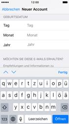 Apple iPhone SE - iOS 10 - Apps - Konto anlegen und einrichten - Schritt 15