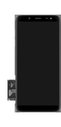 Samsung galaxy-j6-sm-j600fn-ds - Instellingen aanpassen - SIM-Kaart plaatsen - Stap 7