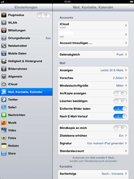 Apple iPad 2 - E-Mail - Konto einrichten - Schritt 14