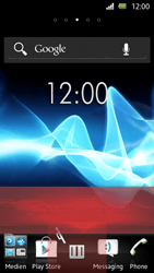 Sony Xperia U - Getting started - Installing widgets and applications on your start screen - Step 8