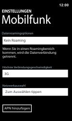 Nokia Lumia 800 / Lumia 900 - Netzwerk - Manuelle Netzwerkwahl - Schritt 8