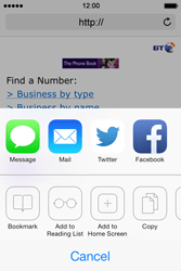 Apple iPhone 4 S iOS 7 - Internet - Internet browsing - Step 13