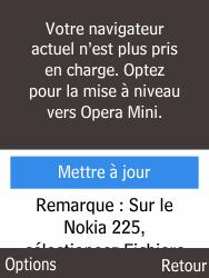 Nokia 225 - Internet et roaming de données - Navigation sur Internet - Étape 5