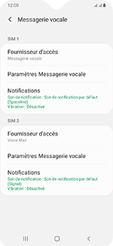 Samsung Galaxy A20e - Messagerie vocale - configuration manuelle - Étape 9