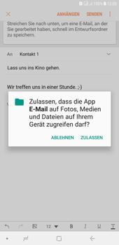 Samsung Galaxy J4+ - E-Mail - E-Mail versenden - Schritt 12