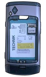 Samsung S8500 Wave - SIM-Karte - Einlegen - Schritt 4