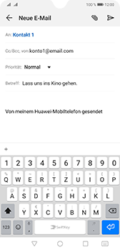 Huawei Mate 20 - E-Mail - E-Mail versenden - Schritt 8