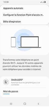 Samsung Galaxy A40 - Internet et connexion - Partager votre connexion en Wi-Fi - Étape 8