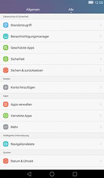 Huawei MediaPad T1 (7.0) - Fehlerbehebung - Handy zurücksetzen - Schritt 5