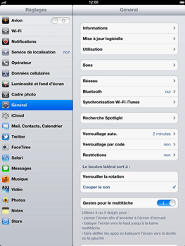 Apple iPad 4th generation - Wifi - configuration manuelle - Étape 2