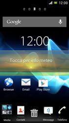 Sony Xperia J - Operazioni iniziali - Installazione di widget e applicazioni nella schermata iniziale - Fase 6