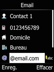 Doro 6520 - Contact, Appels, SMS/MMS - Ajouter un contact - Étape 10