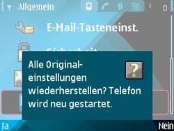 Nokia E71 - Fehlerbehebung - Handy zurücksetzen - Schritt 9