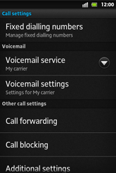 Sony ST27i Xperia Go - Voicemail - Manual configuration - Step 5
