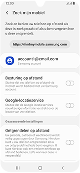 Samsung Galaxy A40 - Toestel - Stel Zoek mijn mobiel in - Stap 6
