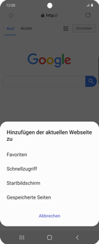 Samsung Galaxy Z flip - Internet und Datenroaming - Verwenden des Internets - Schritt 9