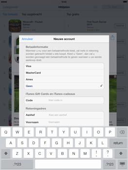 Apple iPad 4th generation (Retina) met iOS 7 - Applicaties - Account aanmaken - Stap 19