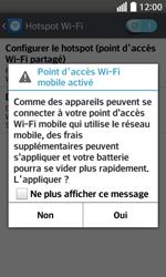 LG F70 - Internet et connexion - Partager votre connexion en Wi-Fi - Étape 10