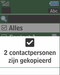 Samsung E1270 - Contacten en data - Contacten kopiëren van SIM naar toestel - Stap 9