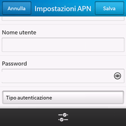BlackBerry Q10 - Internet e roaming dati - Configurazione manuale - Fase 10